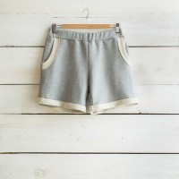 Short Molleton gris chiné